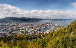 Bergen, Floyen View, Norway Royalty Free Stock Images