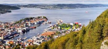 Bergen, Floyen View, Norway Stock Photo