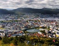 Bergen, Floyen View, Norway Royalty Free Stock Photos