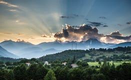 Bergen in Georgië Stock Afbeelding