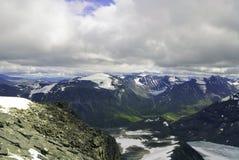 Bergen, gletsjers en valleien in Jotunheimen Royalty-vrije Stock Afbeelding