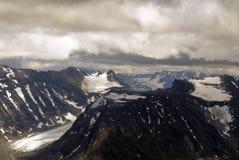 Bergen, gletsjers en valleien in Jotunheimen Royalty-vrije Stock Fotografie