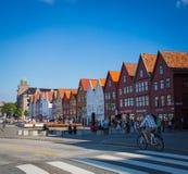Bergen Hanseatic-Kai Stockfotos