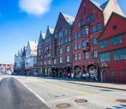 Bergen Hanseatic-Kai norwegen Stockbild