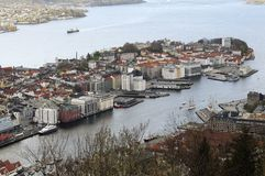 The Bergen harbor Stock Image