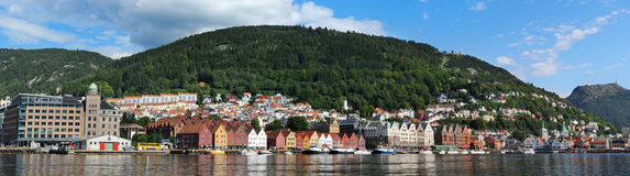 Bergen harbor Royalty Free Stock Image