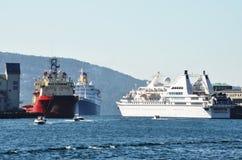 Bergen harbour Stock Images