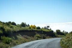 bergen i norden av ön av madeiran Royaltyfri Foto
