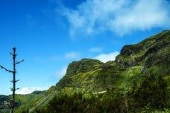 bergen i norden av ön av madeiran Royaltyfria Bilder