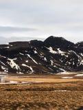 Bergen in IJsland stock fotografie