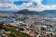 Bergen ist eine Stadt und ein Stadtbezirk in Hordaland auf der Westküste Lizenzfreies Stockfoto