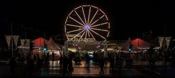 Bergen Julemarked, Kerstmismarkt in Bergen, Noorwegen Stock Afbeelding