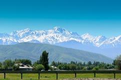 Bergen in Kazachstan Stock Foto's