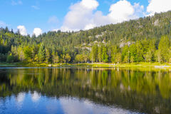 Bergen. Lake up on Mount Flyoen Royalty Free Stock Photography