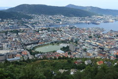 Bergen linii horyzontu widok Zdjęcia Royalty Free