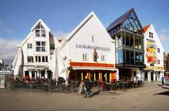 Bergen, lungomare, Norvegia Immagini Stock Libere da Diritti