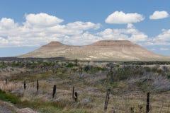 Bergen met platte kop in Woestijn Royalty-vrije Stock Foto's