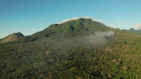 Bergen met regenwoud, Filippijnen, Camiguin worden behandeld die stock footage