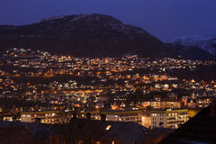 Bergen at Night Royalty Free Stock Image