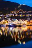 Bergen at Night Stock Image