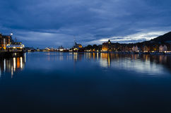 Bergen at night Royalty Free Stock Photos