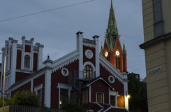Bergen at night Stock Photography