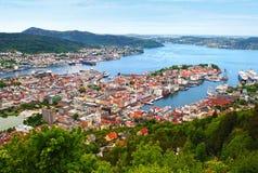 Bergen Noorwegen Stock Foto