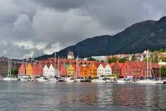 Bergen, Noorwegen Kade Bryggen Royalty-vrije Stock Foto