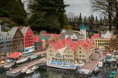Bergen, Noruega hizo de Lego fotografía de archivo libre de regalías