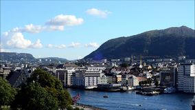 Bergen, Norvège banque de vidéos