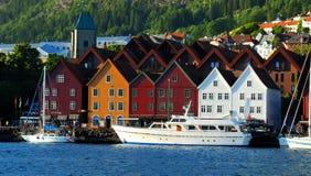 Bergen Norvegia Fotografia Stock Libera da Diritti
