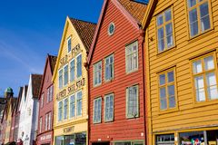 bergen norway Royaltyfria Bilder