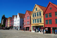 Bergen, Norway. Historic Bryggen area in Bergen, Norway, a city popular for its tourist attractions and as a gateway to Norway's fjords. Bryggen is the oldest Royalty Free Stock Photography