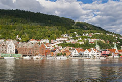 Bergen (Norway). View with typical houses Stock Photography