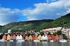 Bergen (Norway). Bergen colourful little houses (Norway Stock Photography
