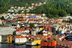 bergen Norway Obrazy Royalty Free