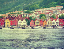 bergen norway Royaltyfri Foto