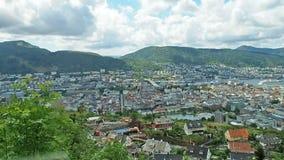 Bergen Norway Aerial-Ansicht stock video footage