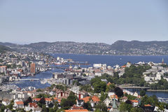 Bergen, Norway airial view royalty free stock photography