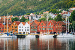 Bergen, Norway - August 3, 2014: View of Stock Image