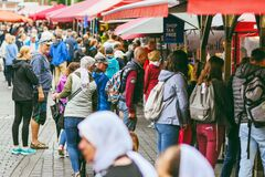 Poeple at the famous bergen fish market, Bergen