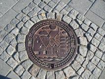 Bergen Norway Manhole Cover photo stock