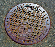 Bergen, Norway manhole cover Royalty Free Stock Photography