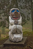Bergen, Norway - March 8, 2012: wooden sculpture mythical creature guard of forest legend Royalty Free Stock Images