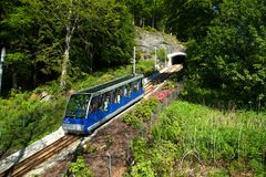 The funicular in Bergen in Norway Royalty Free Stock Photo