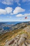 bergen norway panorama Fotografering för Bildbyråer