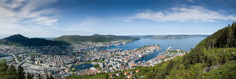 Bergen Norway Panorama Royalty Free Stock Photo