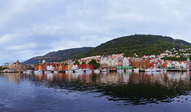 Bergen Norway panorama Royalty Free Stock Image
