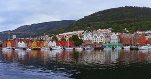 Bergen Norway panorama Royalty Free Stock Images