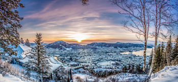 Bergen, Norway. Panorama of Bergen, Norway. This is from the viewing point Royalty Free Stock Photos